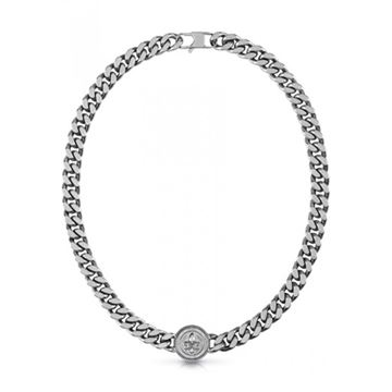 """Imágen de COLLAR GUESS JEWELLERY CURB 4DC DOTTED AS """"21"""" 11 mm."""